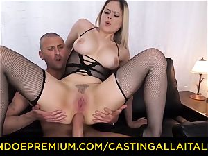audition ALLA ITALIANA - huge-chested Italian ash-blonde booty poked