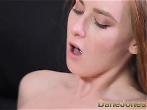 Dane Jones scorching Czech red-haired deep throats hard-on and gets fucked