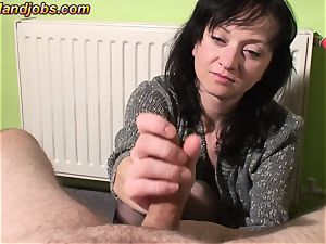 trio cum-shots on Maya clothes gams and face