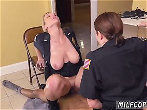 blondie hubby dark-hued male squatting in home gets our milf officers squatting on his face.