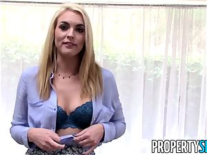 PropertySex platinum-blonde realtor tricked into romp on camera
