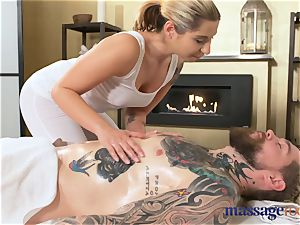 massage rooms adorable diminutive ash-blonde gargles and pokes