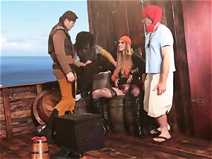 mass ejaculation facial cumshot for magnificent pirate Keira Nicole