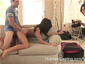 Nubiles casting - porn tryouts for big-titted stunner