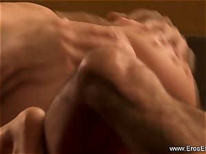 multiracial Indian anal invasion bang-out With A super-sexy blondie