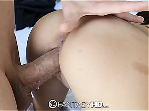 puny college girl banged from behind