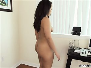 Ava Sanchez cleaning bare