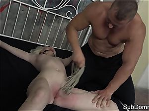 lil' european creampied by her raunchy male domination