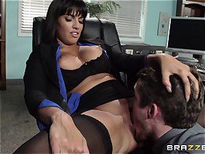 latin secretary Mercedes Carrera seduced her new chief in the office