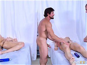Monique Alexander and Chanel Preston enjoy joint rubdown humping