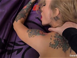 Sarah gets romped pov style until she is coated in jism