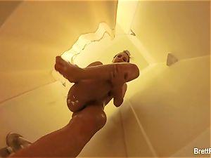 wondrous blonde Brett Rossi takes a cute shower