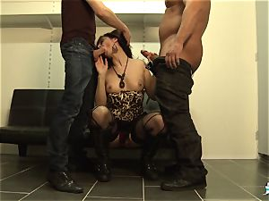 LaCochonne - French Julia Gomez in scorching ass fucking threesome