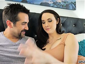 Spizoo - watch Chanel Preston deepthroating and tearing up