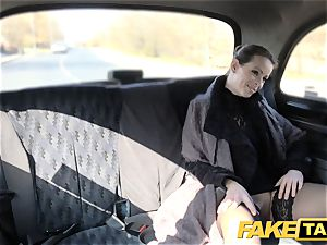 fake taxi Czech chick covets a stiff man rod