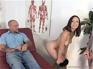 Jade Nile Has Her husband blow man sausage and watch Her