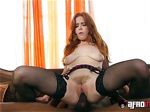 casting ALLA ITALIANA ginger-haired fucked by a dark-hued shaft
