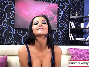 very first Class POV-Big rump Ava Addams sucking a hefty meatpipe