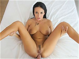 Milfy mummy Anissa Kate torn up deep in her pussy pie