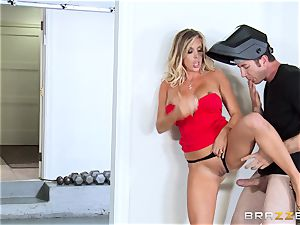 super-fucking-hot wifey Samantha Saint pulverizes her spouses step-brother