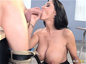 huge-boobed teacher Ava Addams is humped by her schoolgirl