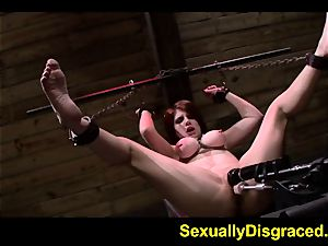 fettered up Velma DeArmond on a humungous fuck stick