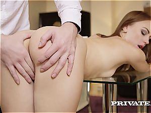 mischievous school super-bitch Kira gets spanked and boned by her schoolteacher