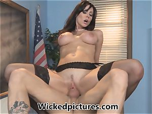 sleepy college girl is pulverized by tutor Kendra eagerness