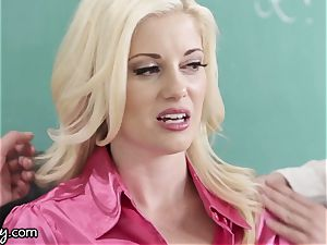 Girlsway insatiable lesbo schoolgirls Manipulate lecturer