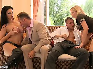 sumptuous inviting Aletta Ocean is gliding her throat on a ginormous man's manhood